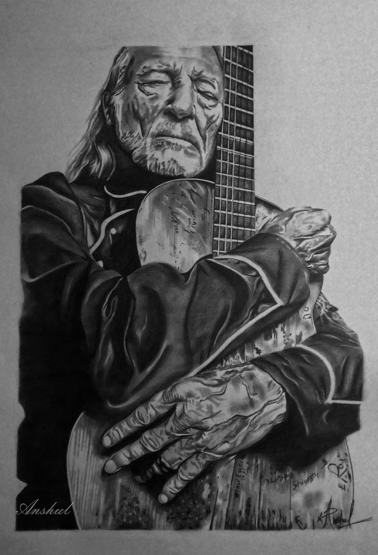 Willie Nelson pencil sketch