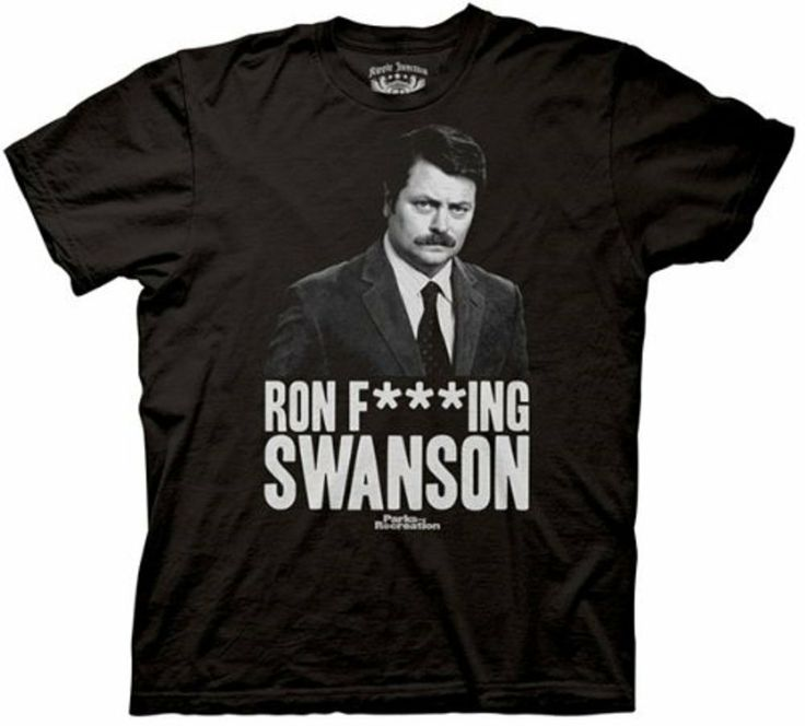 Mens Parks & Recreation Ron Fing Swanson T-shirt