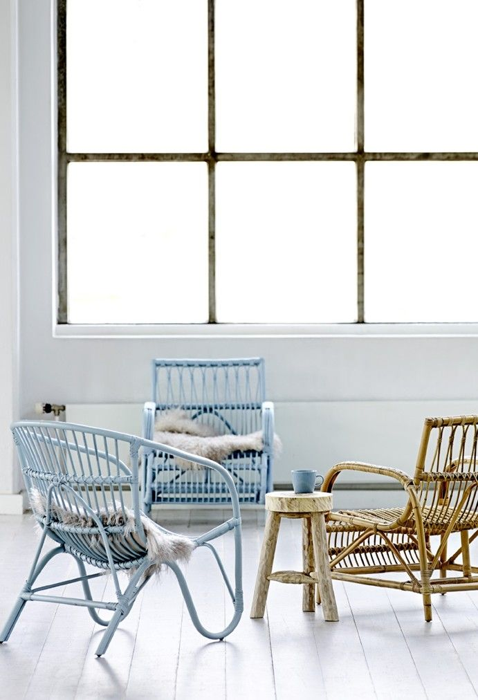Light Blue Wicker Chairs