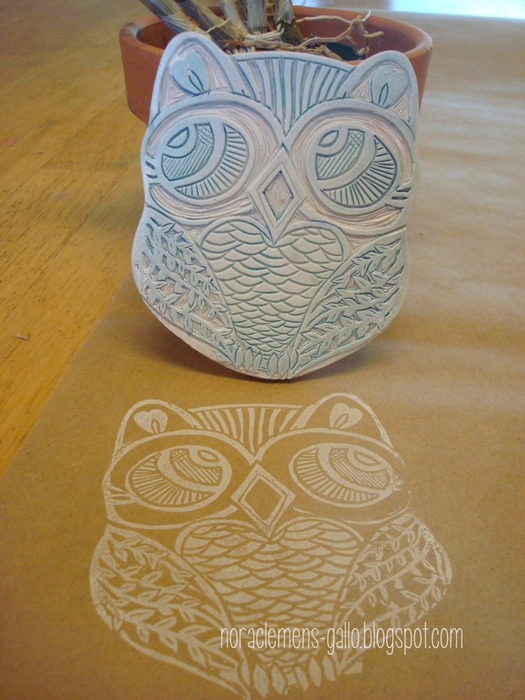 Wow, this is so intricate and detailed! Hand made original stamp El Buho. $25.00, via Etsy. #owl