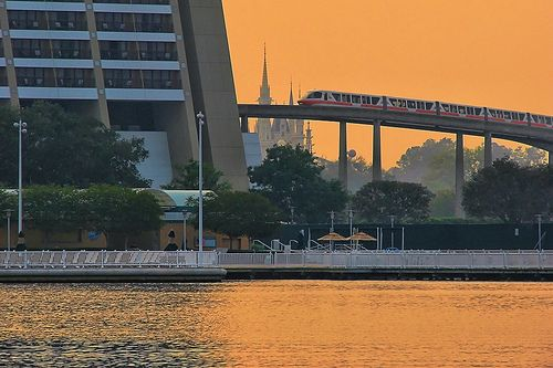 Disney - Monorail Coral Contemporary Resort by Express Monorail, via Flickr