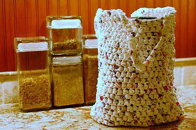 Plarn Grocery Tote Crochet - Tutorial