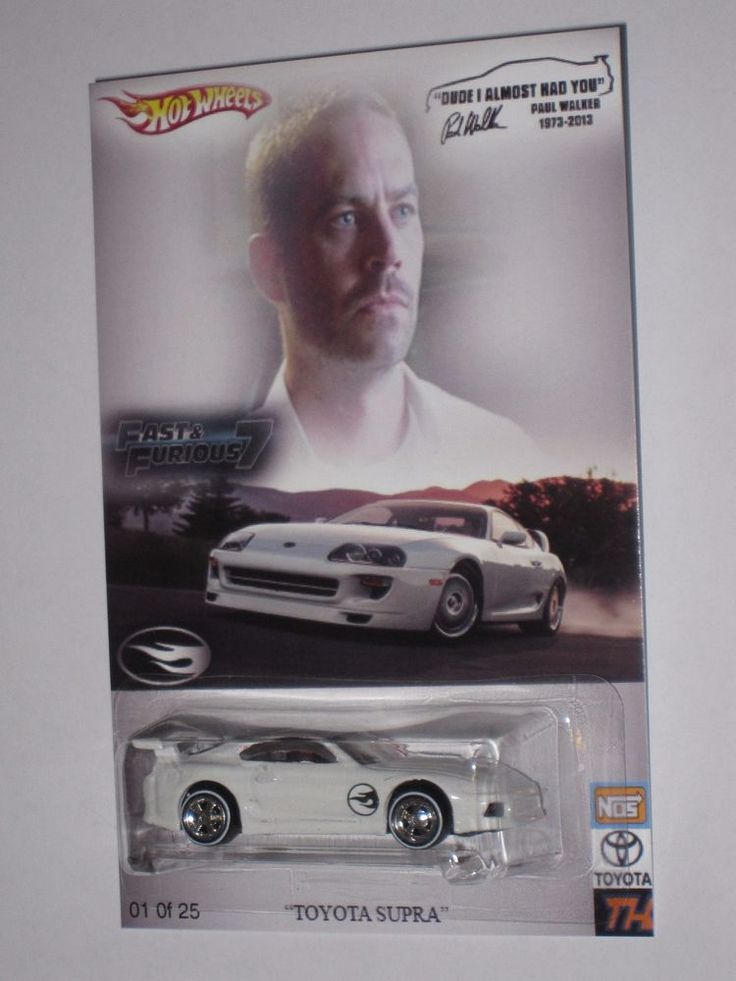 New Toyota Supra >> HOT WHEELS Fast& Furious Brian's white Toyota Supra Paul Walker tribute TH!! #MATTEL #HOTWHEEL ...