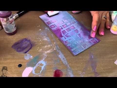 Grunge Paste 106 Stencil Stamping