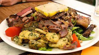 Behind the French Menu: Salad Perigourdine (Salade Périgourdine) on the French Menu.