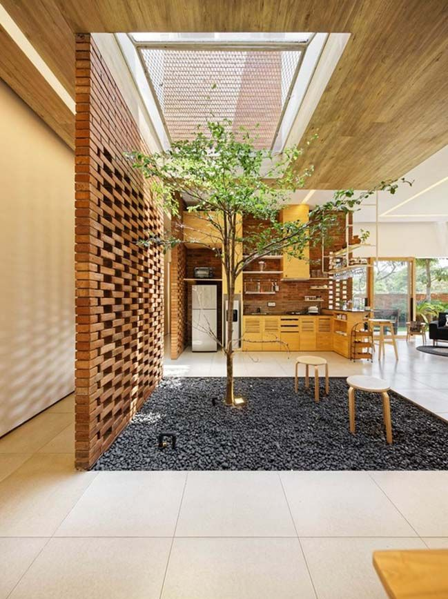 Architecture Homedesign Modernhouse Brick House Design Indonesia Villa Contemporary Interiordesign Architecture Skylight House Decor Modern
