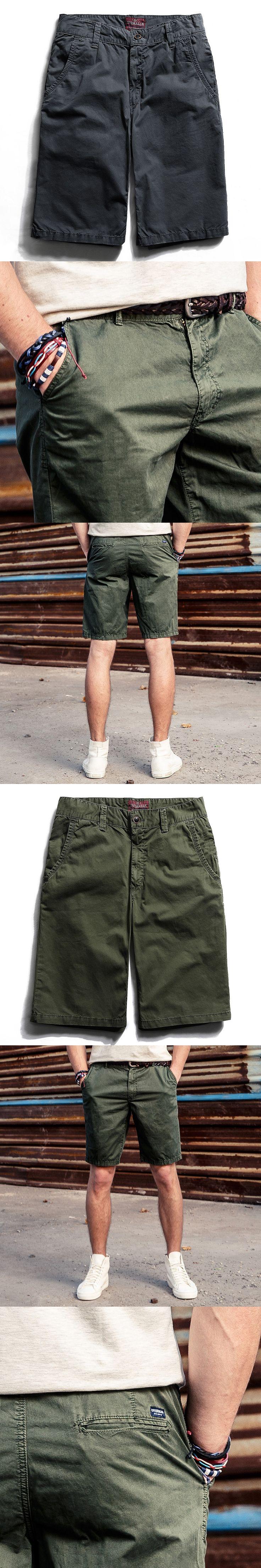 2017 Cotton Men Knickers Men's Cargo Panties Casual Trousers Beach Shorts Pocket Design Summer Male Street Style Short YN10049