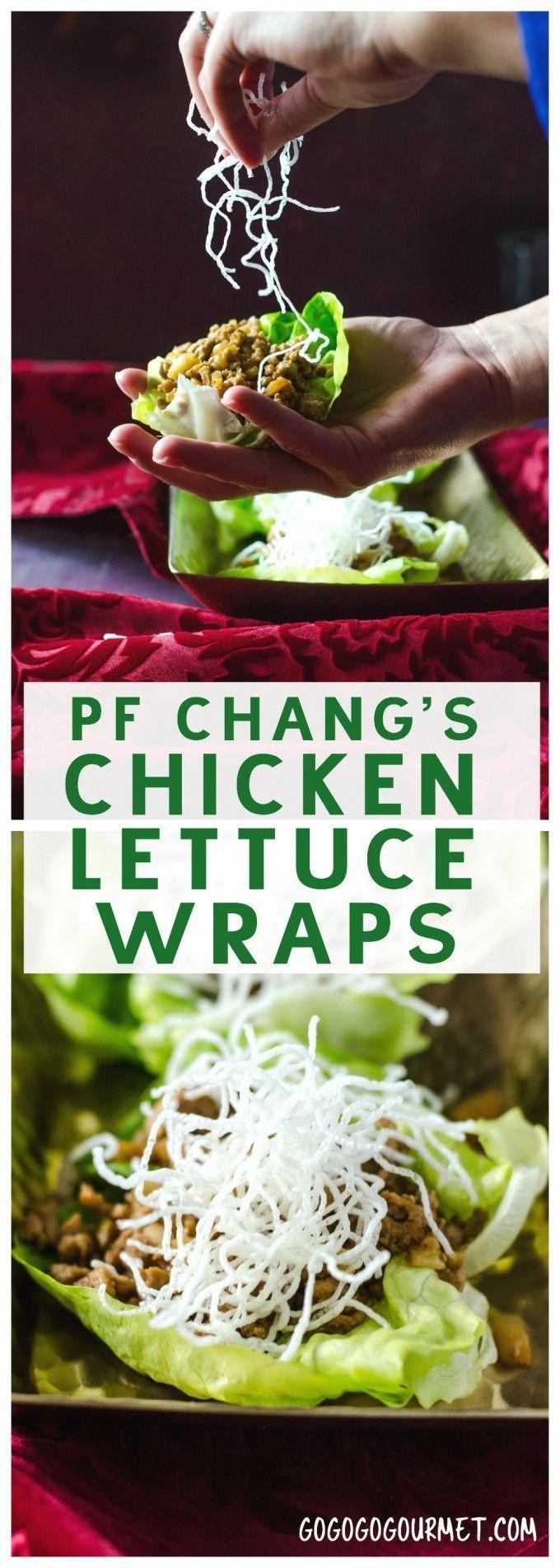 Chicken Lettuce Wraps (PF Chang's Copycat) via @gogogogourmet