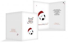 Fussball ist unser Leben... Jetzt im Fußballfieber gleich diese originelle Weihnachtskarte gestalten und dafür in der Vorweihnachtszeit mehr Zeit haben für andere Dinge!