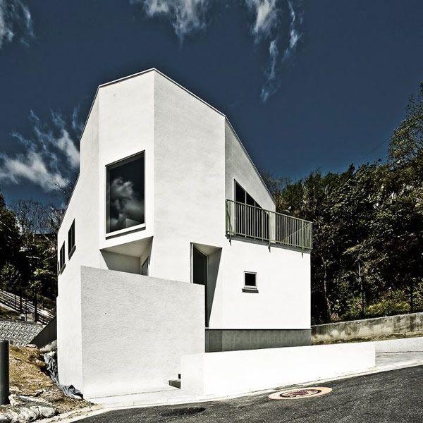 Nomura 24 House 1 Minimalist Japanese Residence Displaying a Polygonal Shape: Nomura 24