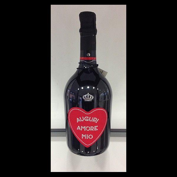 Bottiglia Standard con Swarovski. Un' idea originale per  brindare a San Valentino