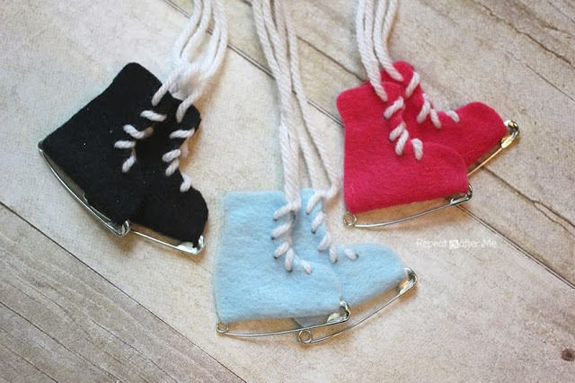 Safety Pin Ice Skates - Repeat Crafter Me