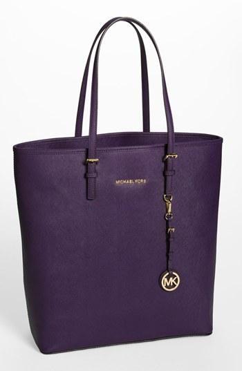 MICHAEL Michael Kors purple tote.