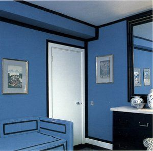 David Hicks Interior Designer Blue Bedroom
