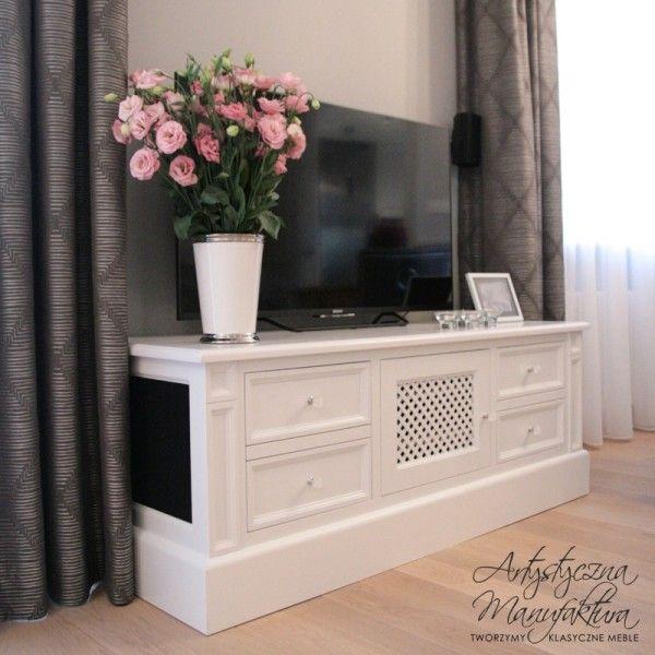 klasyczna szafka RTV, szafka telewizyjna, RTV commode, classic RTV cabinet, wooden tv stand