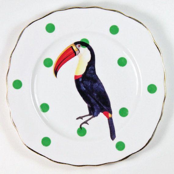 Bellissimo set di piastre di uccelli di yvonneellen su Etsy