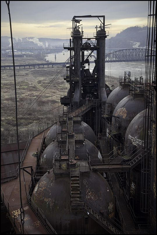 The Carrie Furnaces in Rankin, Pittsburgh, PA. were built in 1881 as part of U.S. Steel's Homestead Works,.