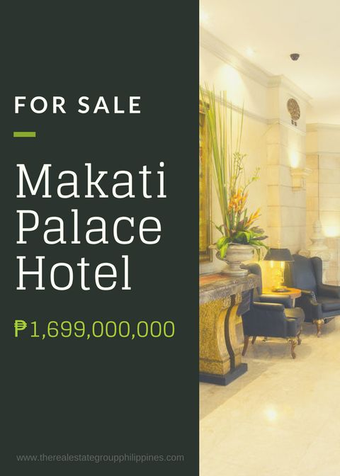For Sale:  Makati Palace Hotel Makati city Total Floor Area: 10454.76 Sqm Total Land Area: 1200 Sqm Total no. of rooms/comml/office: 192 For : 1699000000  http://ift.tt/2wiR0ii