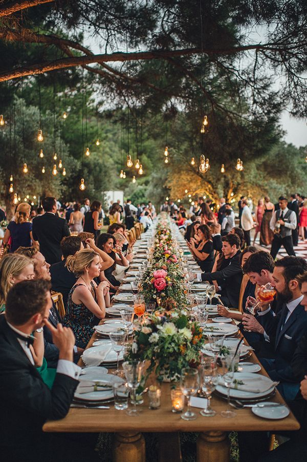 Enchanting olive grove wedding | Jasmine & David - Love4Wed #edisonbulbsdecor #edisonlights #weddinglights