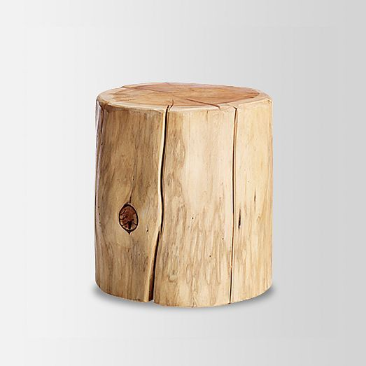 Natural Tree Stump Side Table West Elm Accessories
