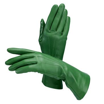 Ladies Classic Silk Lined Leather Gloves in Forest Green - Aspinal of London - Luxury English Lifestyle