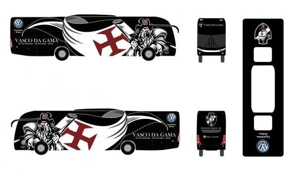 Vasco Da Gama FC team bus wrap
