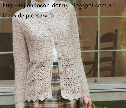 Campera tejida a crochet con sus patrones…
