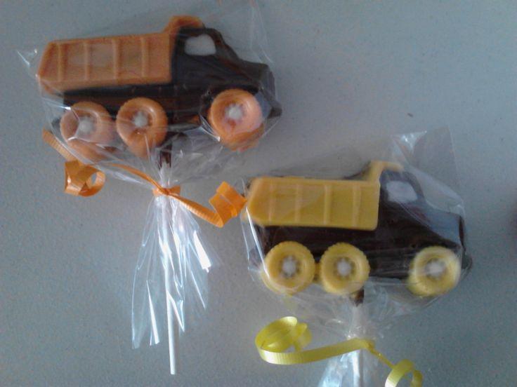 24 Dump Truck Construction Birthday Party Favor by SandiPopLollies, $38.00