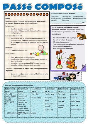 imparfait vs passe compose exercises pdf