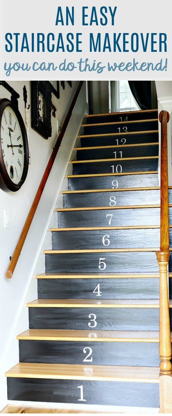 An easy staircase makeover you can do this weekend!