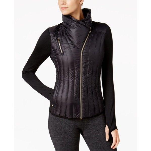 Calvin Klein Performance Lightweight Down Jacket (1,185 MXN) ❤ liked on Polyvore featuring outerwear, jackets, black, calvin klein, light weight down jacket, lightweight down jacket, down filled jacket and lightweight jackets