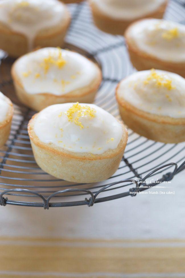 Meyer Lemon Friands recipe - Tea Cakes   TeenieCakes.com