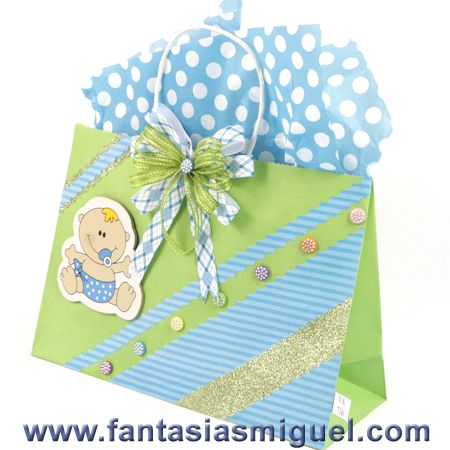 Bolsa para regalo baby shower limon como hacer - Como hacer bolsas de regalo ...