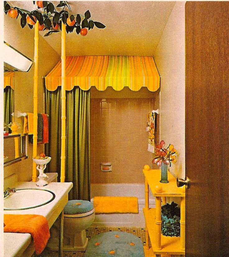 187 best images about decor in the 1970s on pinterest for 1970 bathroom decor