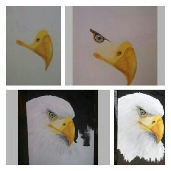 Progress :) bald eagle painting