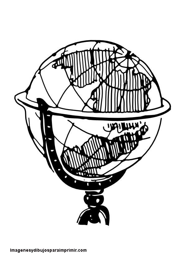 Globo terrestre para imprimir-Imagenes y dibujos para imprimir