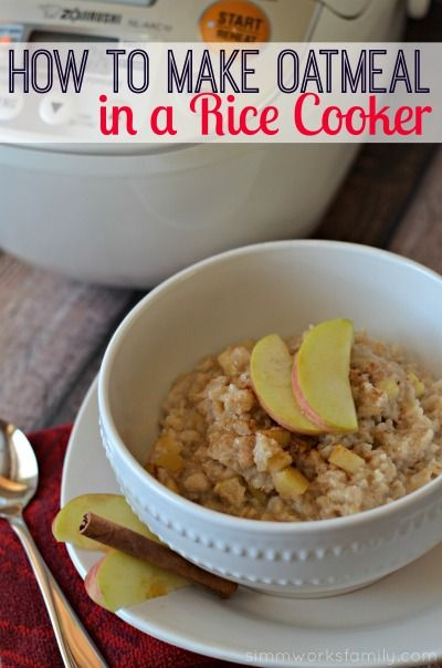 How to make oatmeal in a rice cooker - simple and easy breakfast! Plus it's perfect for a large crowd or a small family.