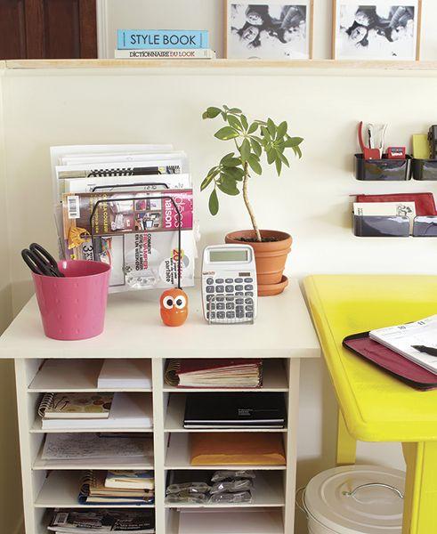17 best images about bureaux on pinterest coins home - Organisation rangement maison ...