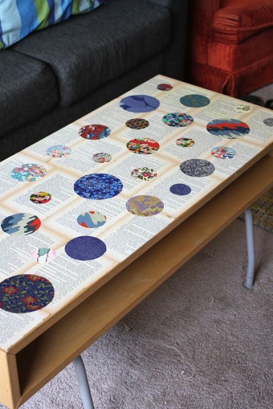 IMG 0475 Recycled Novel Page And Washi Paper Coffee Table In Furniture Diy  With Vintage Paper