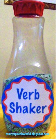 Verb Shaker! - Pinned by @PediaStaff. - Please Visit http://ht.ly/63sNt for all our pediatric therapy pins