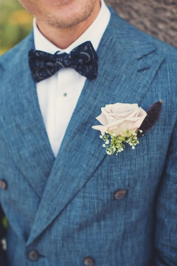 Vintage meets bohemian French groom: http://www.stylemepretty.com/destination-weddings/2015/11/23/vintage-boho-inspired-romantic-french-riviera-wedding/   Photography: AnneClaire Brun - http://anneclairebrun.com/