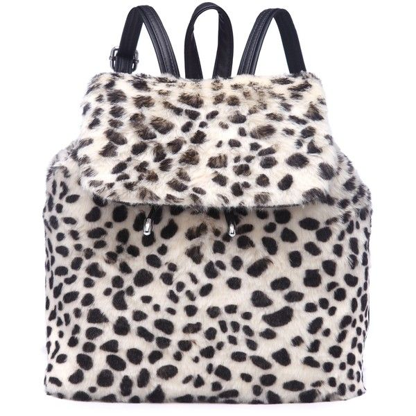 CREEP SNOW LEOPARD FAUX FUR BACKPACK ($30) ❤ liked on Polyvore featuring bags, backpacks, leopard print bag, faux fur backpack, pink bag, knapsack bags and backpacks bags