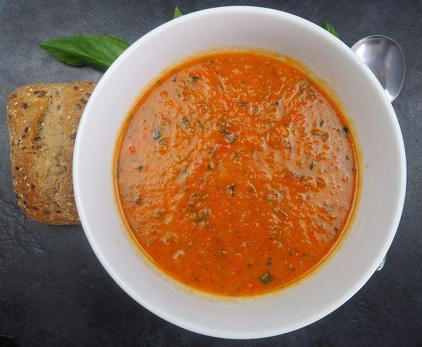 Roast Tomato, Chorizo and Eggplant Soup
