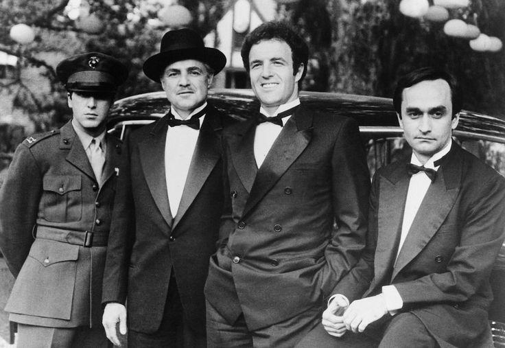 The Godfather -  Michael Corleone, Don Vito Corleone, Sonny Corleone y Fredo Corleone.