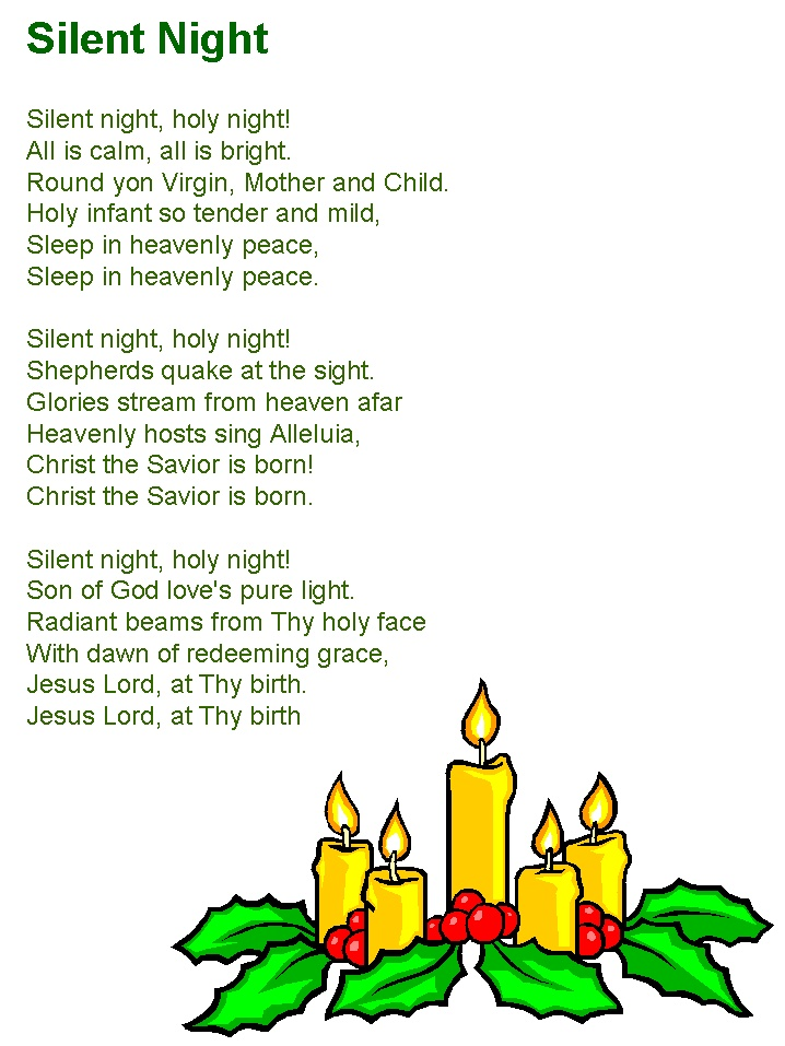 This is a graphic of Dynamite Silent Night Printable Lyrics