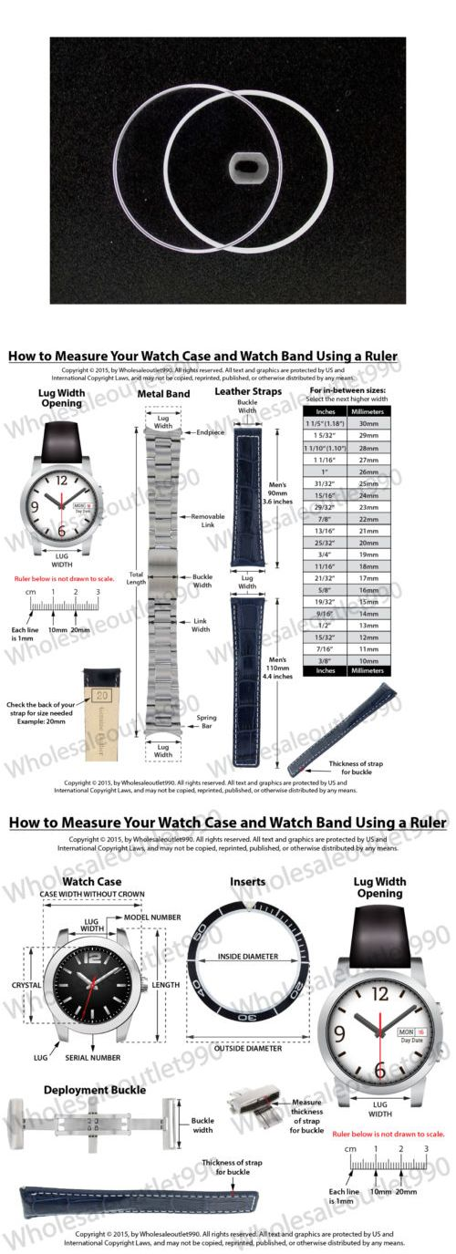 Crystals 57715: Sapphire Watch Crystal For Midsize 34Mm Rolex 6694 Oyster Precision Part BUY IT NOW ONLY: $49.9
