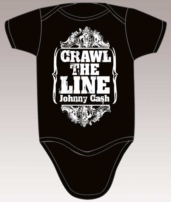I just bought this Johnny Cash onesie for Noah! So cute! HAHAHAHA Crawl the line....