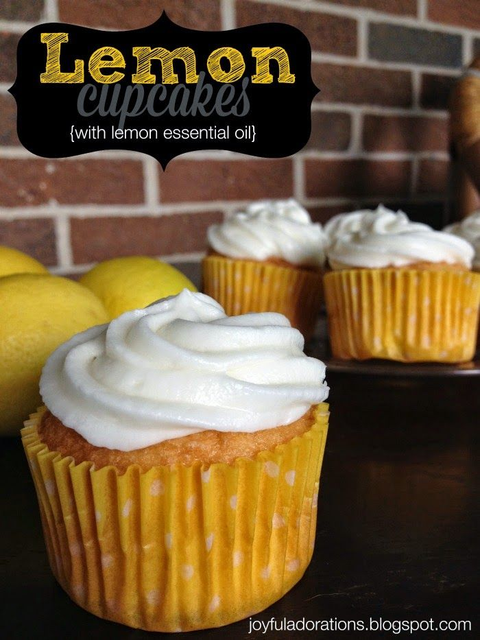 Joyful Adorations: Lemon Cupcakes with essential oils #oilyfamilies #summerrecipes