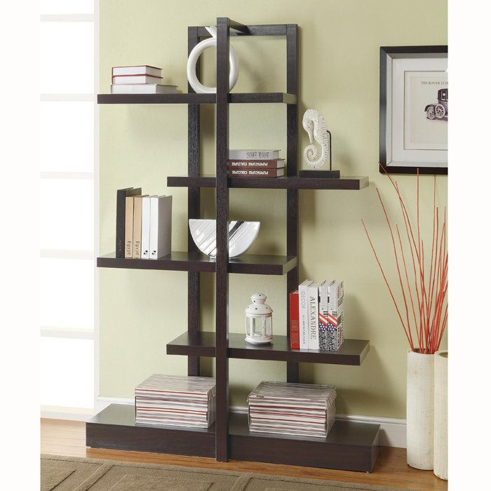 Brookstone Asymmetrical staggered shelving unit