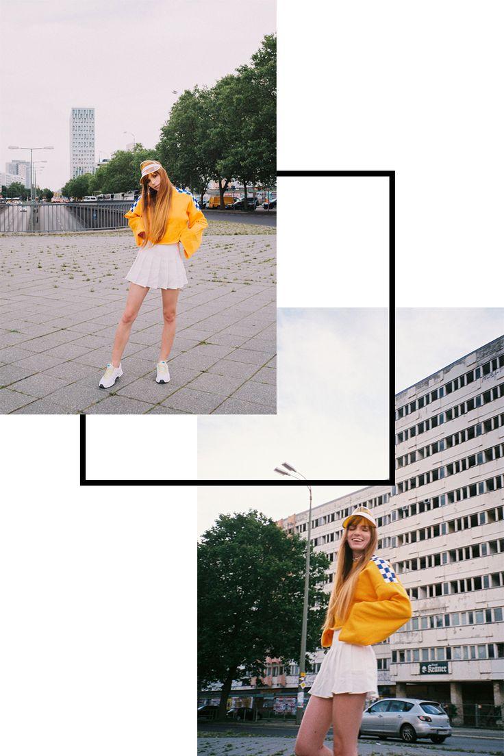 The ragged Priest Dogtown Sweatshirt Streetstyle Berlin, Modeblogger Outfit cropped Sweatshirt, Bilder und Text Artikel auf Spark&Bark